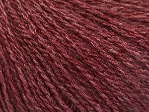 Fiber Content 65% Merino Wool, 35% Silk, Brand ICE, Burgundy, Yarn Thickness 1 SuperFine  Sock, Fingering, Baby, fnt2-57859