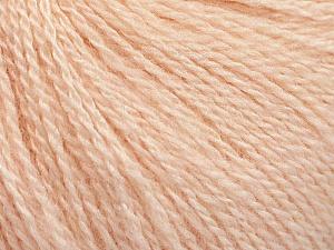 Fiber Content 65% Merino Wool, 35% Silk, Light Salmon, Brand ICE, Yarn Thickness 1 SuperFine  Sock, Fingering, Baby, fnt2-57860