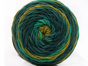 Fiber Content 100% Acrylic, Brand ICE, Green Shades, Yarn Thickness 4 Medium  Worsted, Afghan, Aran, fnt2-58025