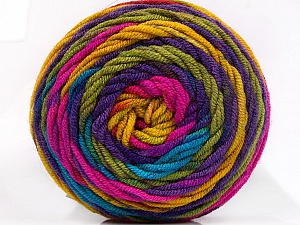 Fiber Content 100% Acrylic, Rainbow, Brand ICE, Yarn Thickness 4 Medium  Worsted, Afghan, Aran, fnt2-58032