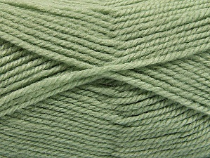 Fiber Content 50% Wool, 50% Acrylic, Light Green, Brand ICE, Yarn Thickness 4 Medium  Worsted, Afghan, Aran, fnt2-58187