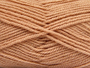 Fiber Content 50% Wool, 50% Acrylic, Light Salmon, Brand ICE, Yarn Thickness 4 Medium  Worsted, Afghan, Aran, fnt2-58189