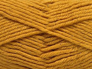 Fiber Content 72% Premium Acrylic, 3% Metallic Lurex, 25% Wool, Brand ICE, Gold, Yarn Thickness 5 Bulky  Chunky, Craft, Rug, fnt2-58200