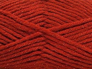 Fiber Content 72% Premium Acrylic, 3% Metallic Lurex, 25% Wool, Brand ICE, Copper, Yarn Thickness 5 Bulky  Chunky, Craft, Rug, fnt2-58201