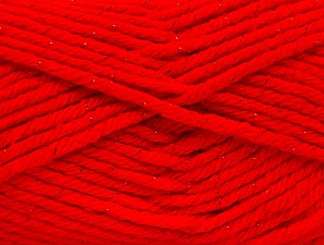 Fiber Content 72% Premium Acrylic, 3% Metallic Lurex, 25% Wool, Red, Brand ICE, Yarn Thickness 5 Bulky  Chunky, Craft, Rug, fnt2-58207