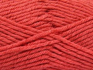 Fiber Content 72% Premium Acrylic, 3% Metallic Lurex, 25% Wool, Salmon, Brand ICE, Yarn Thickness 5 Bulky  Chunky, Craft, Rug, fnt2-58208