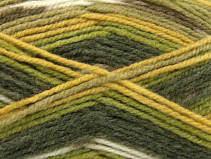 Fiber Content 50% Wool, 50% Acrylic, Brand ICE, Green Shades, Yarn Thickness 4 Medium  Worsted, Afghan, Aran, fnt2-58286