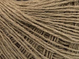 Fiber Content 50% Wool, 50% Acrylic, Brand ICE, Beige, Yarn Thickness 2 Fine  Sport, Baby, fnt2-58294