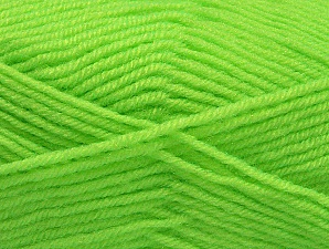 Fiber Content 60% Acrylic, 40% Wool, Neon Green, Brand ICE, Yarn Thickness 3 Light  DK, Light, Worsted, fnt2-58341