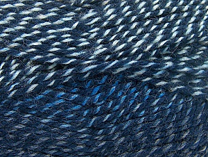 Fiber Content 50% Wool, 50% Acrylic, Brand ICE, Blue Shades, Yarn Thickness 4 Medium  Worsted, Afghan, Aran, fnt2-58368