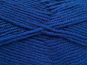 Fiber Content 50% Wool, 50% Acrylic, Brand ICE, Dark Blue, Yarn Thickness 4 Medium  Worsted, Afghan, Aran, fnt2-58373
