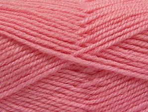 Fiber Content 50% Wool, 50% Acrylic, Light Pink, Brand ICE, Yarn Thickness 4 Medium  Worsted, Afghan, Aran, fnt2-58379