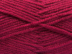 Fiber Content 50% Wool, 50% Acrylic, Brand ICE, Dark Fuchsia, Yarn Thickness 4 Medium  Worsted, Afghan, Aran, fnt2-58382
