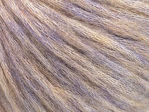 Fiber Content 40% Acrylic, 30% Wool, 30% Polyamide, Lilac Melange, Brand ICE, Yarn Thickness 4 Medium  Worsted, Afghan, Aran, fnt2-58409