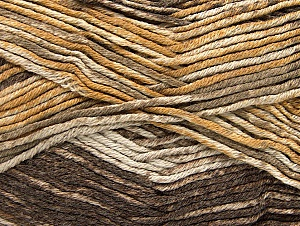 Fiber Content 50% Premium Acrylic, 50% Cotton, Brand ICE, Brown Shades, Yarn Thickness 2 Fine  Sport, Baby, fnt2-58410