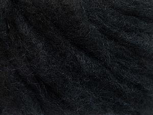 Fiber Content 50% Wool, 50% Acrylic, Brand ICE, Black, fnt2-58523