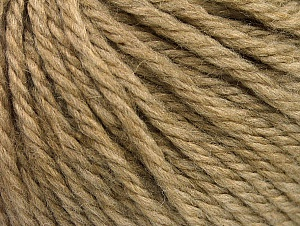 Fiber Content 60% Acrylic, 40% Wool, Light Camel, Brand ICE, Yarn Thickness 6 SuperBulky  Bulky, Roving, fnt2-58566