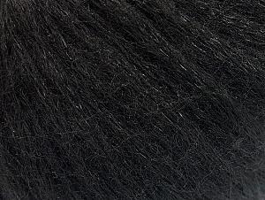 Fiber Content 40% Acrylic, 30% Wool, 30% Polyamide, Brand ICE, Black, Yarn Thickness 4 Medium  Worsted, Afghan, Aran, fnt2-58674
