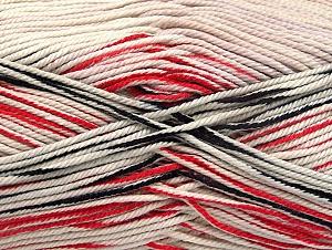 Fiber Content 100% Mercerised Cotton, White, Red, Brand ICE, Black, Yarn Thickness 2 Fine  Sport, Baby, fnt2-58982