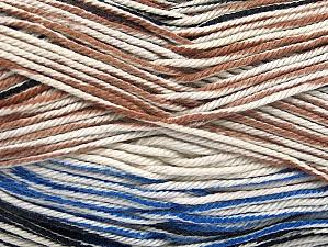 Fiber Content 100% Mercerised Cotton, White, Brand ICE, Camel, Blue, Black, Yarn Thickness 2 Fine  Sport, Baby, fnt2-58983