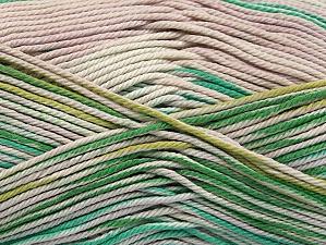 Fiber Content 100% Mercerised Cotton, Light Lilac, Brand ICE, Green Shades, Beige, Yarn Thickness 2 Fine  Sport, Baby, fnt2-58985