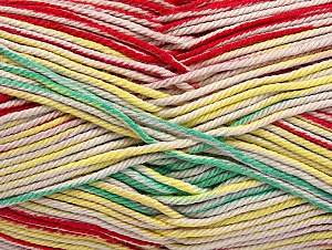 Fiber Content 100% Mercerised Cotton, Yellow, Red, Light Pink, Brand ICE, Green, Beige, Yarn Thickness 2 Fine  Sport, Baby, fnt2-58988