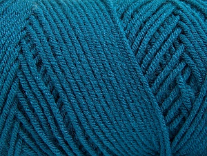 Items made with this yarn are machine washable & dryable. Fiber Content 100% Dralon Acrylic, Teal, Brand ICE, Yarn Thickness 4 Medium  Worsted, Afghan, Aran, fnt2-59113