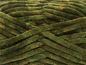 Fiber Content 75% Micro Fiber, 25% Acrylic, Orange, Brand ICE, Green, Yarn Thickness 4 Medium  Worsted, Afghan, Aran, fnt2-59324