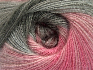 Fiber Content 60% Acrylic, 20% Angora, 20% Wool, Pink Shades, Brand ICE, Grey Shades, Yarn Thickness 2 Fine  Sport, Baby, fnt2-59752