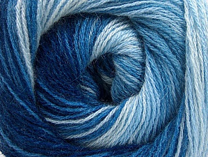 Fiber Content 60% Acrylic, 20% Angora, 20% Wool, Brand ICE, Blue Shades, Yarn Thickness 2 Fine  Sport, Baby, fnt2-59755
