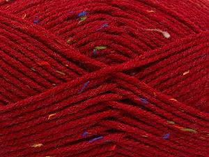 Fiber Content 95% Acrylic, 5% Viscose, Red, Rainbow, Brand ICE, Yarn Thickness 4 Medium  Worsted, Afghan, Aran, fnt2-59765