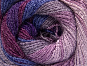 Fiber Content 70% Acrylic, 30% Merino Wool, Purple, Orchid, Lilac Shades, Brand ICE, Yarn Thickness 2 Fine  Sport, Baby, fnt2-59777