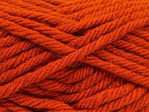 Fiber Content 100% Acrylic, Orange, Brand ICE, Yarn Thickness 6 SuperBulky  Bulky, Roving, fnt2-59794