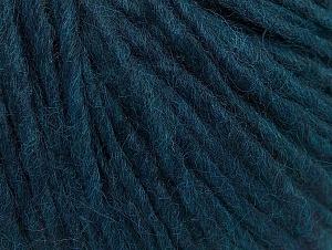 Fiber Content 50% Acrylic, 50% Wool, Brand ICE, Dark Teal, Yarn Thickness 4 Medium  Worsted, Afghan, Aran, fnt2-59816