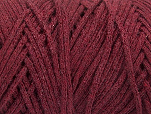 Fiber Content 100% Cotton, Brand ICE, Burgundy, Yarn Thickness 5 Bulky  Chunky, Craft, Rug, fnt2-60172