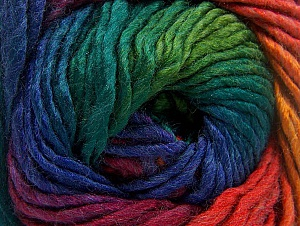 Fiber Content 50% Wool, 50% Acrylic, Rainbow, Brand ICE, Yarn Thickness 5 Bulky  Chunky, Craft, Rug, fnt2-60250