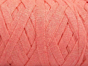 Fiber Content 100% Recycled Cotton, Light Salmon, Brand ICE, Yarn Thickness 6 SuperBulky  Bulky, Roving, fnt2-60404