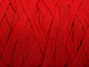 Fiber Content 100% Recycled Cotton, Red, Brand ICE, Yarn Thickness 6 SuperBulky  Bulky, Roving, fnt2-60406