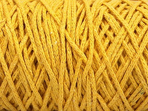 Fiber Content 100% Cotton, Yellow, Brand ICE, Yarn Thickness 5 Bulky  Chunky, Craft, Rug, fnt2-60413