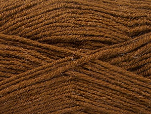 Fiber Content 50% Acrylic, 25% Wool, 25% Alpaca, Brand ICE, Brown, Yarn Thickness 3 Light  DK, Light, Worsted, fnt2-60894