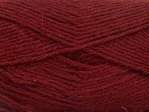 Fiber Content 50% Acrylic, 25% Wool, 25% Alpaca, Brand ICE, Burgundy, Yarn Thickness 3 Light  DK, Light, Worsted, fnt2-60895