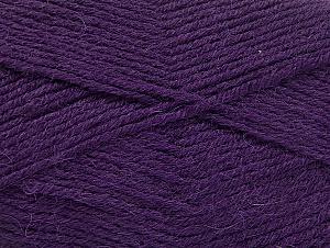 Fiber Content 50% Acrylic, 25% Wool, 25% Alpaca, Purple, Brand ICE, Yarn Thickness 3 Light  DK, Light, Worsted, fnt2-60896