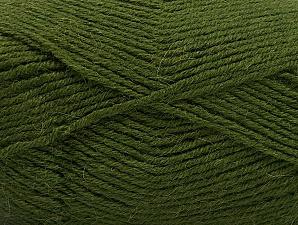 Fiber Content 50% Acrylic, 25% Wool, 25% Alpaca, Brand ICE, Dark Green, Yarn Thickness 3 Light  DK, Light, Worsted, fnt2-60899