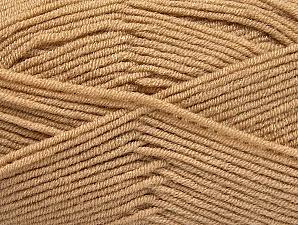 Fiber Content 100% Acrylic, Brand ICE, Dark Beige, Yarn Thickness 4 Medium  Worsted, Afghan, Aran, fnt2-60964