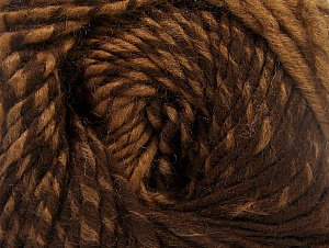 Fiber Content 75% Premium Acrylic, 25% Wool, Brand ICE, Brown Shades, Yarn Thickness 4 Medium  Worsted, Afghan, Aran, fnt2-61018
