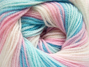 Fiber Content 100% Baby Acrylic, White, Pink Shades, Brand ICE, Blue Shades, Yarn Thickness 2 Fine  Sport, Baby, fnt2-61099