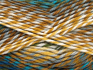 Fiber Content 100% Premium Acrylic, Turquoise, Brand ICE, Grey, Brown Shades, Blue, Yarn Thickness 4 Medium  Worsted, Afghan, Aran, fnt2-61108