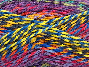 Fiber Content 100% Premium Acrylic, Yellow, Orange, Lilac, Brand ICE, Green Shades, Blue, Yarn Thickness 4 Medium  Worsted, Afghan, Aran, fnt2-61116
