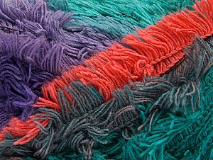 Fiber Content 95% Acrylic, 5% Polyester, Salmon, Purple, Maroon, Lilac, Brand ICE, Green Shades, Yarn Thickness 6 SuperBulky  Bulky, Roving, fnt2-61130