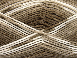 Fiber Content 100% Baby Acrylic, White, Brand ICE, Brown Shades, Yarn Thickness 2 Fine  Sport, Baby, fnt2-61131
